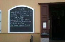 Restaurační nabídková tabule